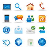 Internet and website icons. New media and social network icons