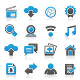Internet and website icons Royalty Free Stock Images