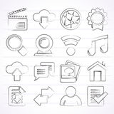 Internet and website icons stock illustration