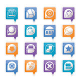 Internet and Website Icons Royalty Free Stock Photography