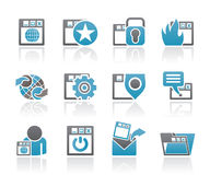Internet, website and  Security Icons Stock Images