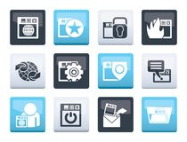 Internet, website and Security Icons over color background. Vector icon set vector illustration