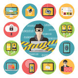 Internet-Webveiligheid Royalty-vrije Stock Afbeeldingen