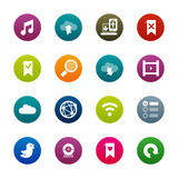 Internet and wedsites icons � Kirrkle series Royalty Free Stock Photos