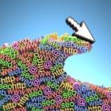 Internet-Welle Lizenzfreies Stockfoto