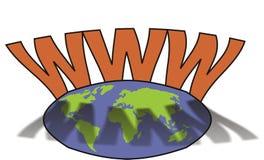 Internet in wereld 3 Stock Afbeeldingen