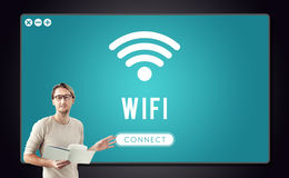 Internet Wifi Connection Access Hotspot Stock Photography