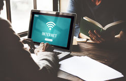 Internet Wifi Connection Access Hotspot Concept Royalty Free Stock Image