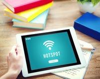 Internet Wifi Connection Access Hotspot Concept Stock Images