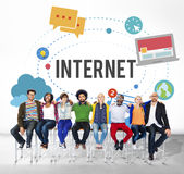 Internet Wifi Connection Social Network Technology Concept Royalty Free Stock Images