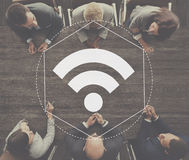 Internet WiFi Network Connection Graphic Concept Royalty Free Stock Images