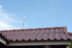 Internet-wifi op het dak stock fotografie