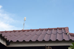 Internet wifi on the roof Stock Photography
