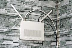 Internet wireless access point Stock Photo