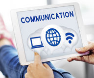 Internet Wireless Connection Icons Concept Stock Image