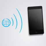 Internet WLAN synchronization with phone. This is file of EPS10 format Stock Photography