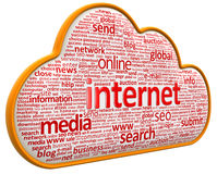 Internet-wolk (het knippen inbegrepen weg) Royalty-vrije Stock Afbeeldingen