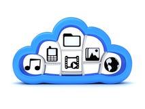 Internet-wolk, symbool Stock Afbeeldingen