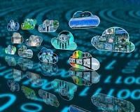 Internet-Wolken Lizenzfreie Stockfotografie
