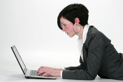 Internet woman Stock Photo