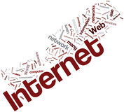Internet word cloud Stock Photography