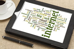 Internet word cloud Royalty Free Stock Photography
