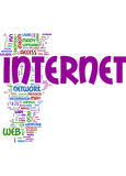 Internet word collage royalty free illustration