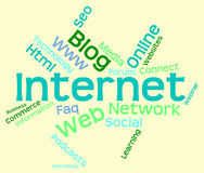 Internet Word Represents World Wide Web And Words Royalty Free Stock Photo