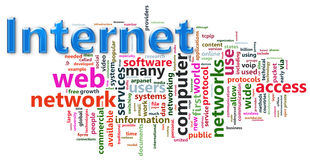 Internet wordcloud Royalty Free Stock Photos