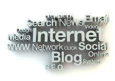 Internet words concept Royalty Free Stock Photos