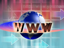 Internet world Stock Photography