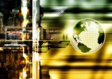 Internet World. Hi-tech style illustration of the internet world