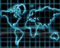 Internet-world map Royalty Free Stock Photo