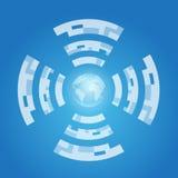 Internet and World symbol Stock Image
