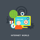 Internet world vector Royalty Free Stock Images