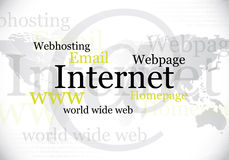 Internet, World Wide Webauslegung Lizenzfreies Stockfoto