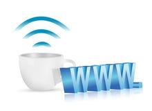 Internet www coffee mug concept illustration Royalty Free Stock Photo
