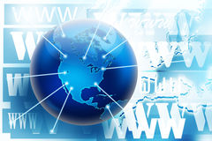Internet and www connections concept picture Royalty Free Stock Image