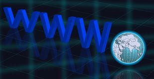 Internet WWW and globe background Stock Image