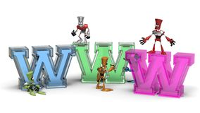 Internet-WWW-Roboter Lizenzfreie Stockfotografie