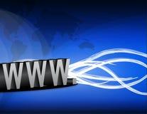 Internet y alambres stock de ilustración