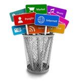 Internet y concepto social de los media Fotografía de archivo