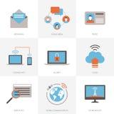 Internet y conexiones ilustración del vector