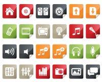 Internet y conjunto en línea del icono de las compras. Etiqueta y laboratorio libre illustration