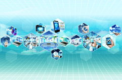 Internet y multimedias Foto de archivo