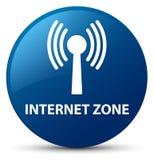 Internet zone (wlan network) blue round button Royalty Free Stock Photo