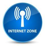 Internet zone (wlan network) elegant blue round button Royalty Free Stock Images