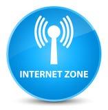 Internet zone (wlan network) elegant cyan blue round button Stock Photography