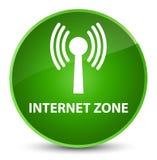 Internet zone (wlan network) elegant green round button Stock Photography