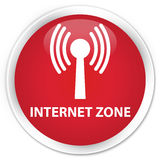 Internet zone (wlan network) premium red round button Stock Photography